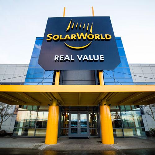 Solar World signage