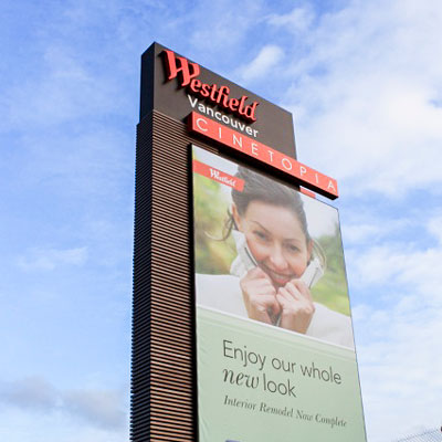 Westfield Mall signage