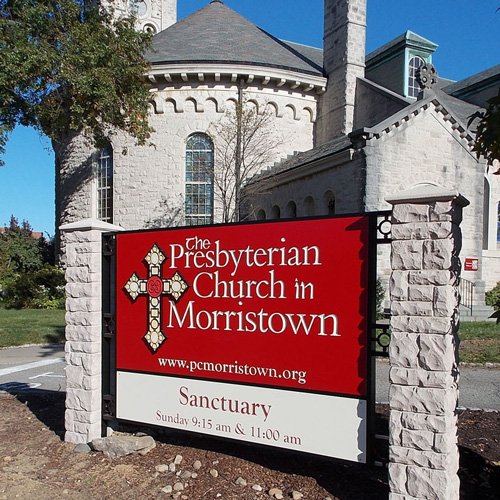The Presbyterian Church in Morristown signage