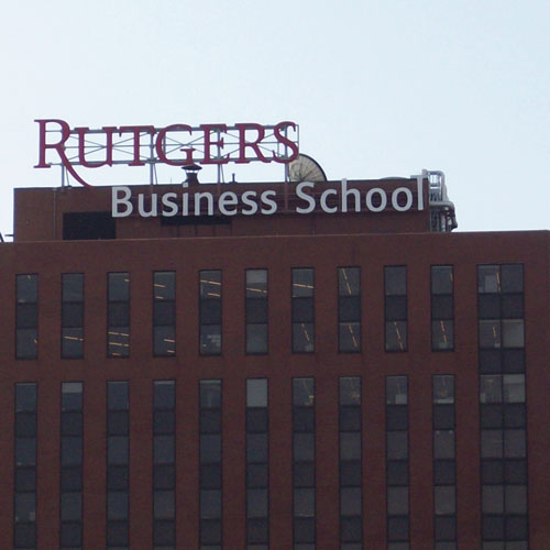 Rutgers Business School signage