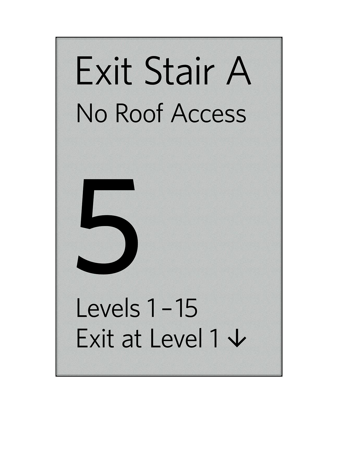 Sign:Stair Landing Regulatory