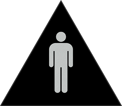 Sign:CA Men ID, Dark Background