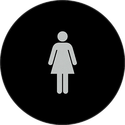 Sign:CA Women ID, Dark Background
