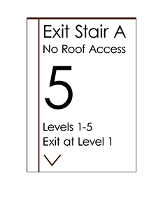 Sign:Stair Landing Regulatory