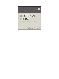 Sign:Utility Room ID