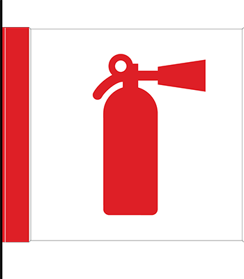 Sign:Fire Extinguisher Cabinet ID, Flag mount