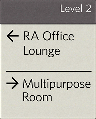 Sign:Corridor Directional, Medium