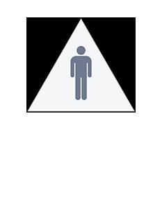 Sign:CA Men ID, Light Background