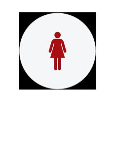 Sign:CA Women ID, Light Background