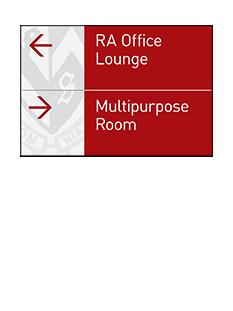 Sign:Corridor Directional, Medium
