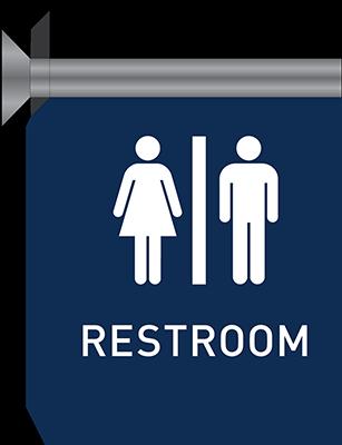 Sign:Restroom ID, Flag Mount