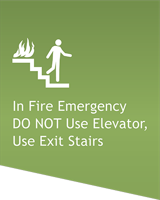 Sign:Elevator Emergency Notice
