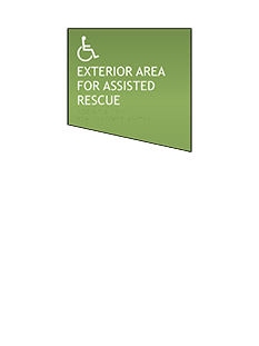 Sign:Exterior Assisted Rescue Area ID