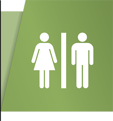 Sign:Restroom ID, Flag Mount