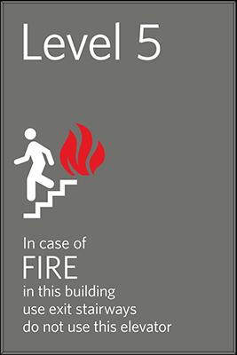 Sign:Elevator Emergency Notice