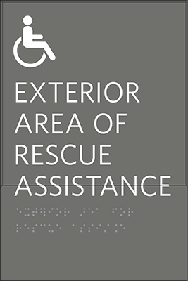 Sign:Assisted Rescue Area ID