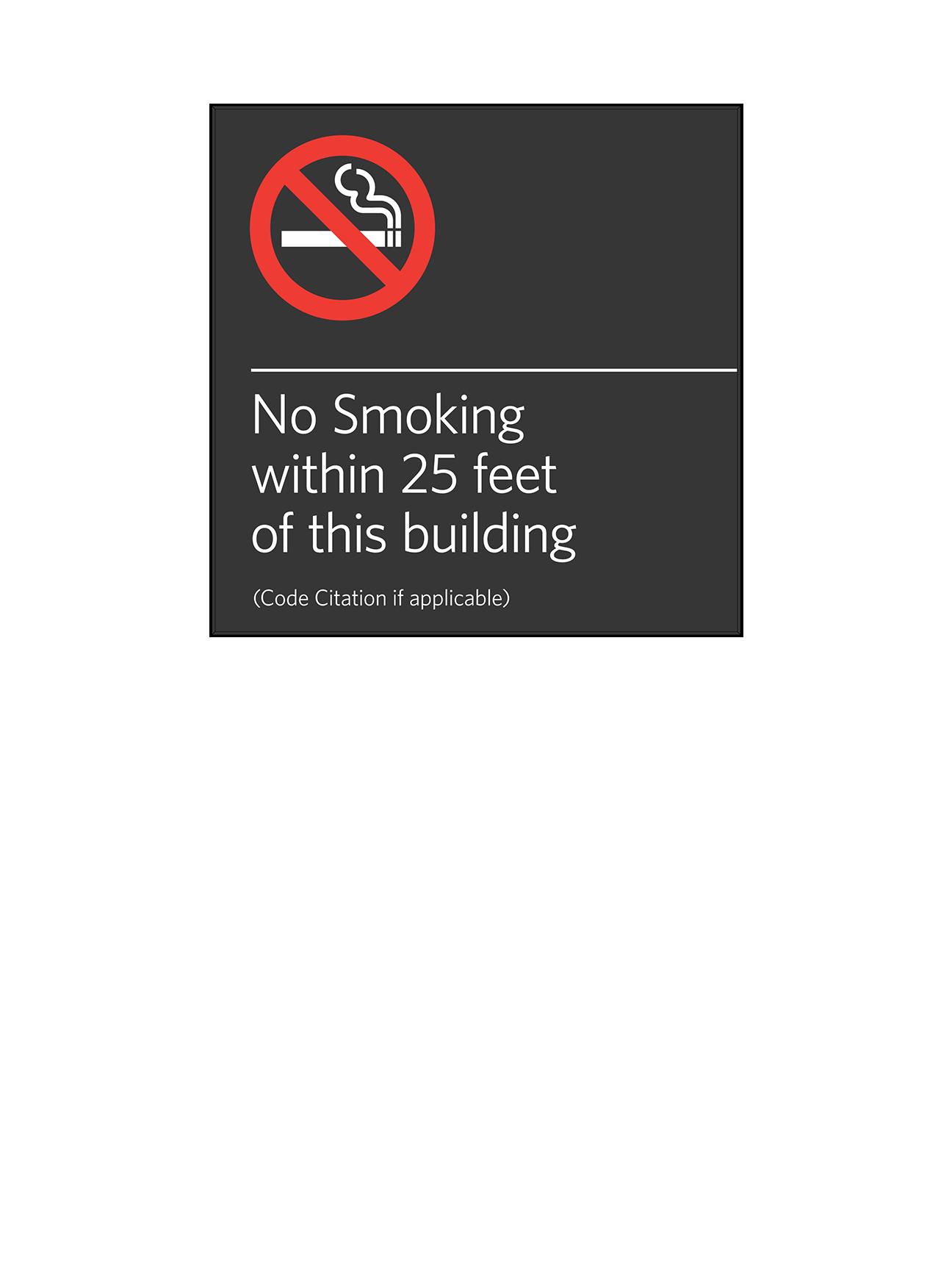 Sign:Regulatory, No Smoking