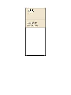 Sign:Unit ID w/ Whiteboard & Occupant Name