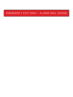 Sign:Emergency Exit ID