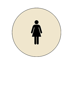 Sign:CA Women ID, Light Background