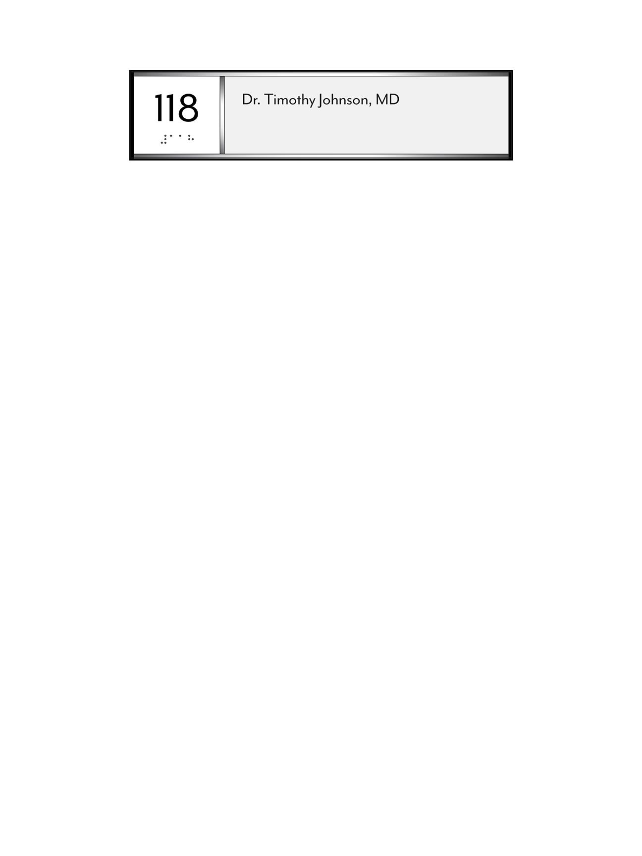 Sign:Unit ID w/ Occupant Name