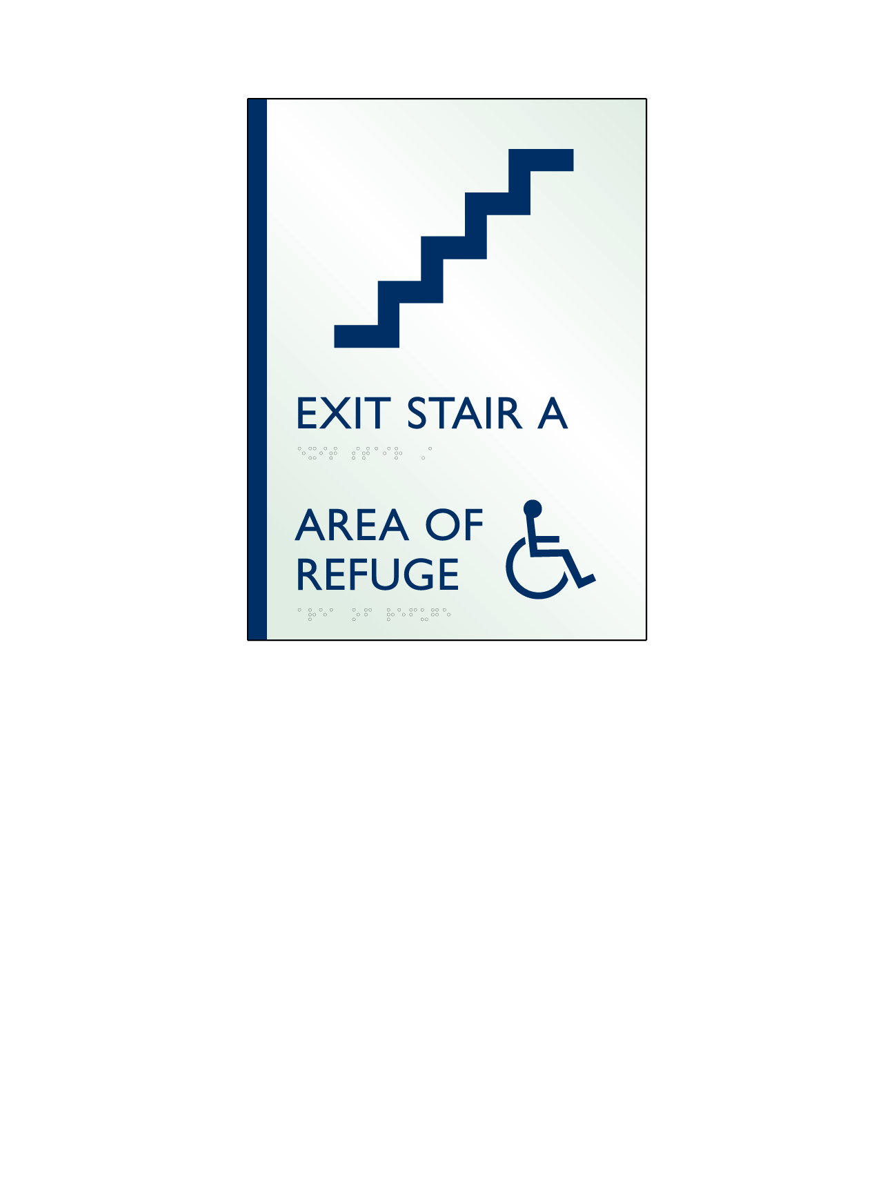 Sign:Stair and Area of Refuge ID