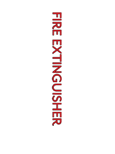 Sign:Fire Extinguisher Cabinet ID