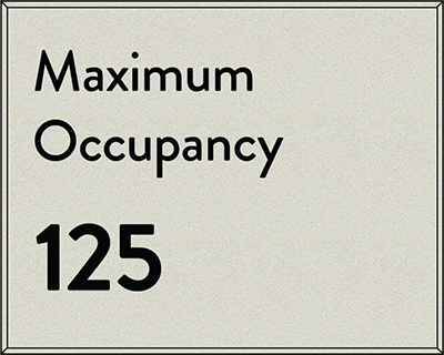 Sign:Regulatory, Max Occupancy