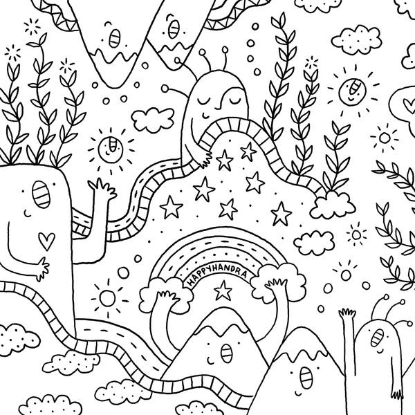 Set de dibujos para colorear