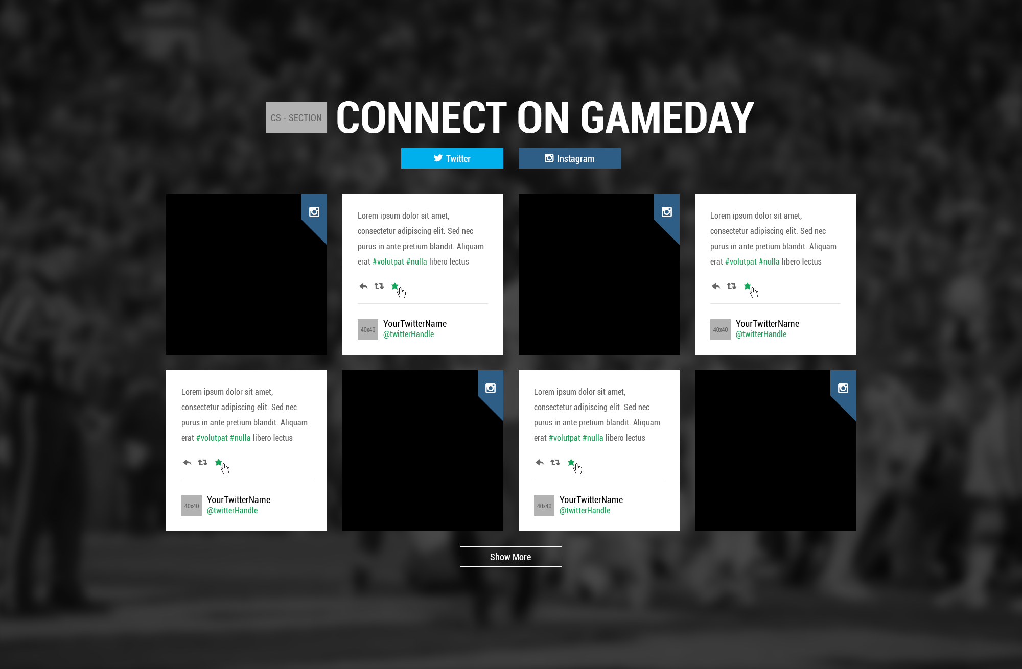game day program template