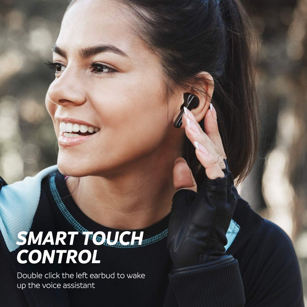 SoundPEATS TrueFree Bluetooth 5.0 stereo in-ear headphones with microphone 15 hours of playback, hands-free calling, one-step pairing on Sale for 36.00 (Save 13.99) at Amazon Canada