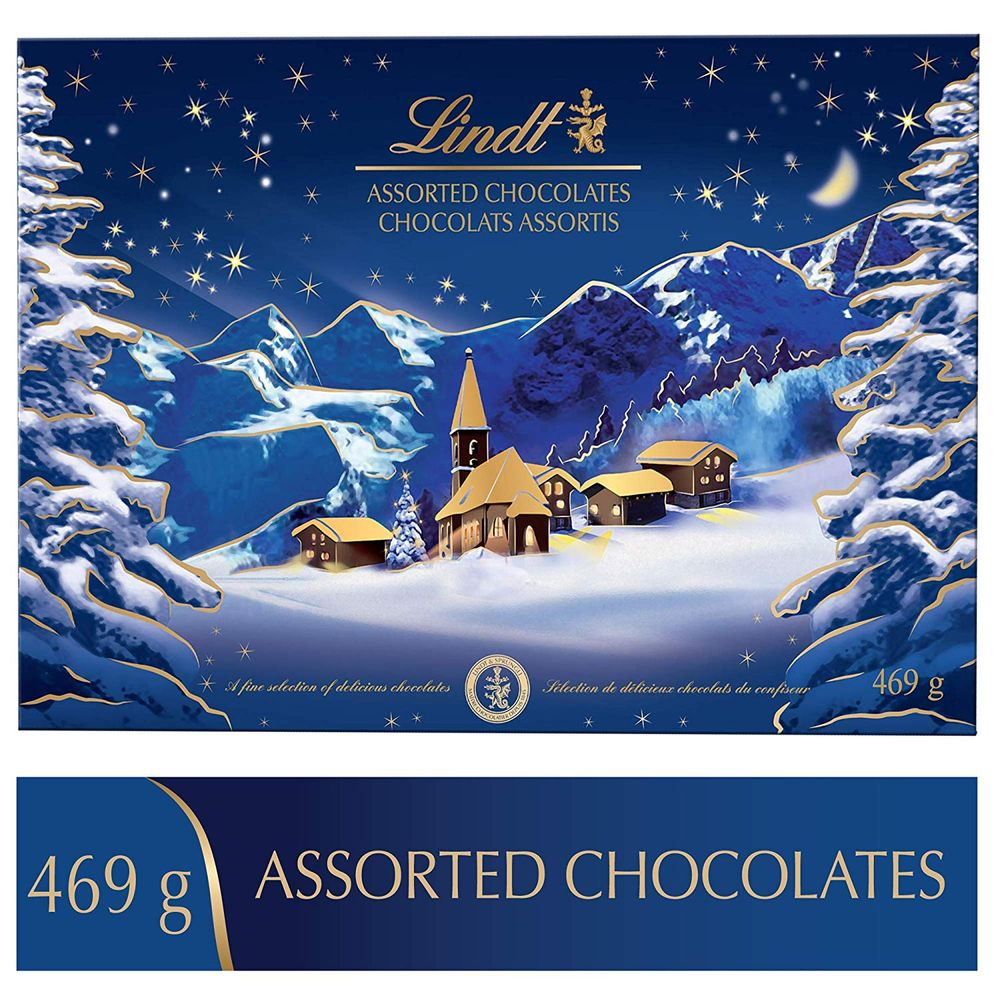 Lindt Christmas Alpine Village Assorted Chocolates, Gift Box, 469g on Sale for $ 26.47 at Amazon Canada