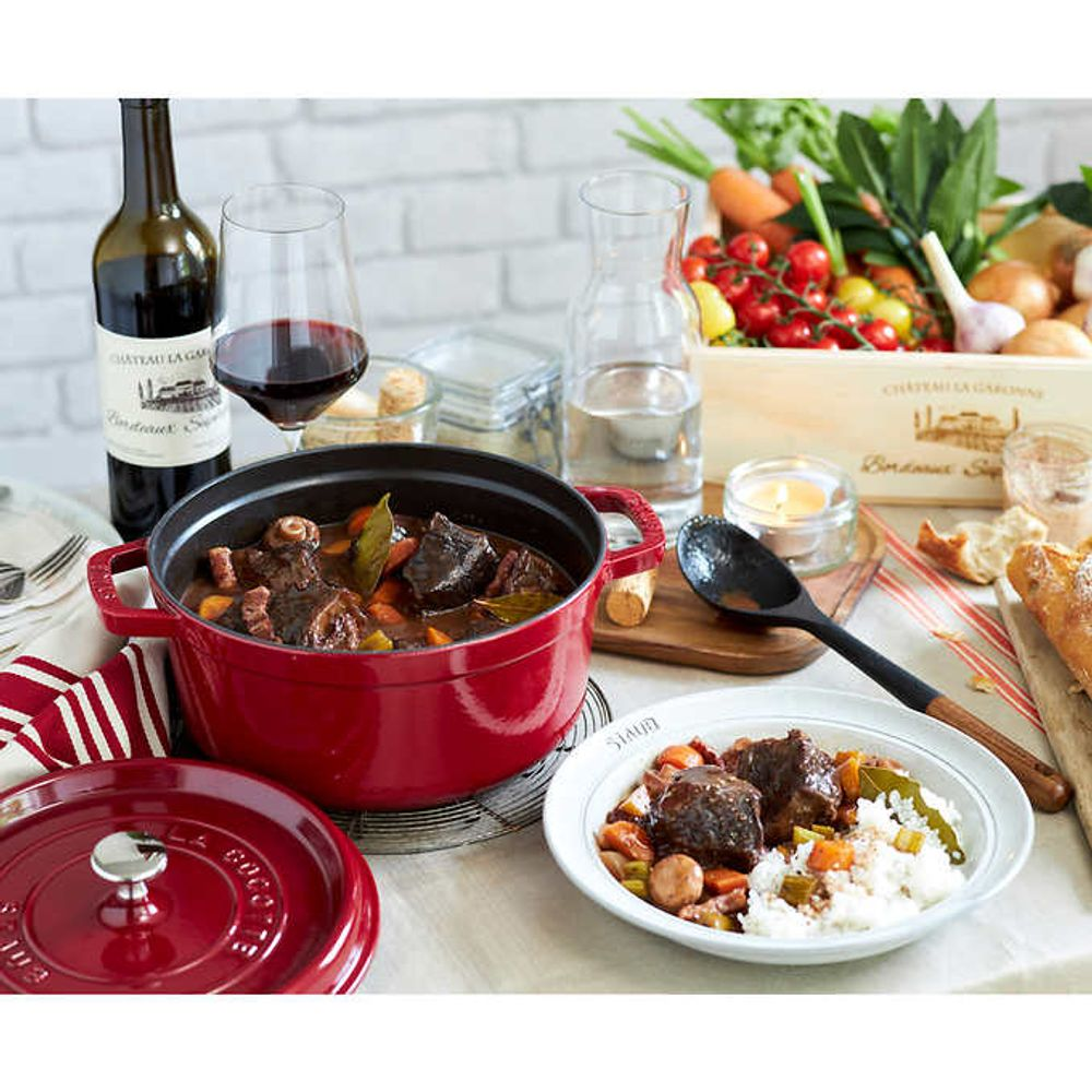 Staub Enameled 6.6 L (7 qt.) Round Cast Iron Covered Casserole On Sale for $199.99 Costco Canada