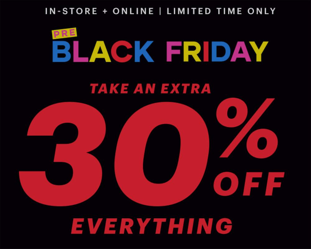 Ardene Canada Black Friday Sale & Deals 2019: Pre Black Friday take 30% off Everything!