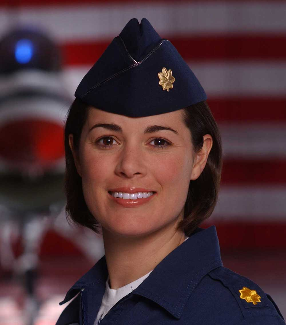 Photograph of U.S. Air Force fighter pilot Nicole Malachowski