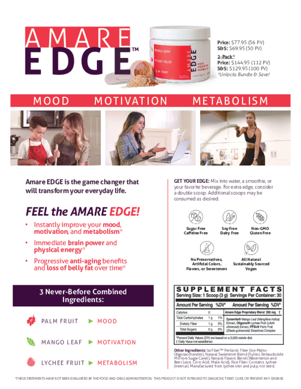 Amare EDGE Product Info Page