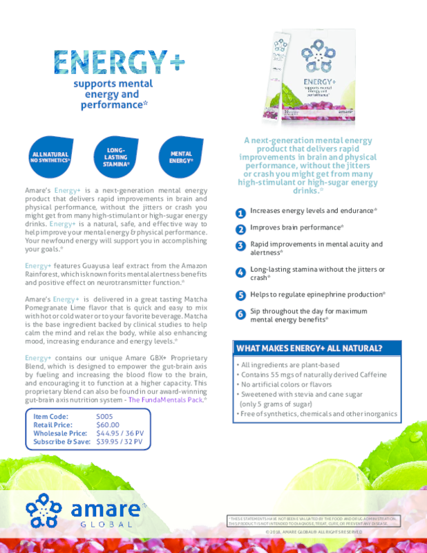 Energy+ Product Info Page