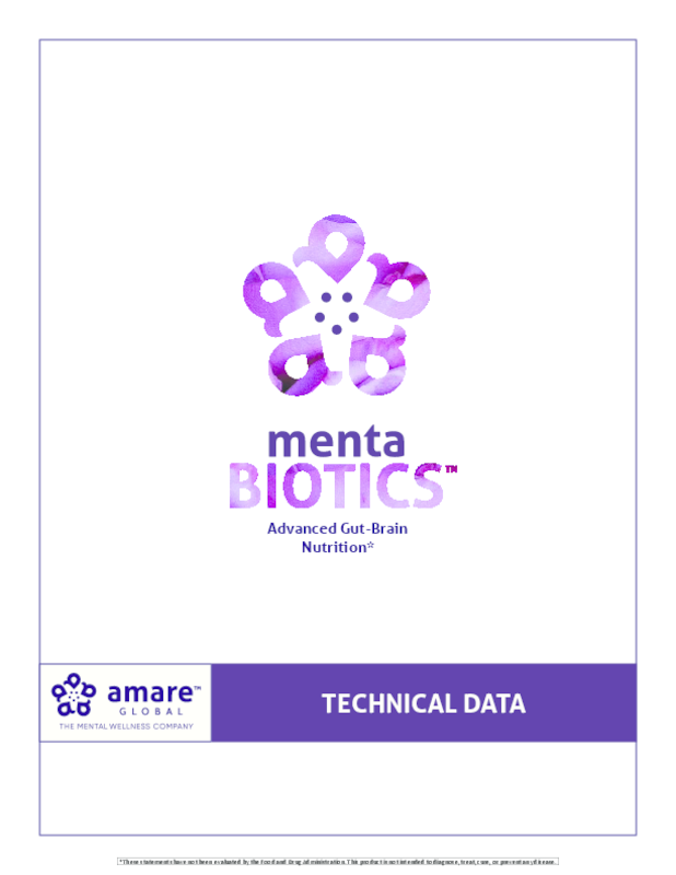 MentaBiotics Technical Data Sheet