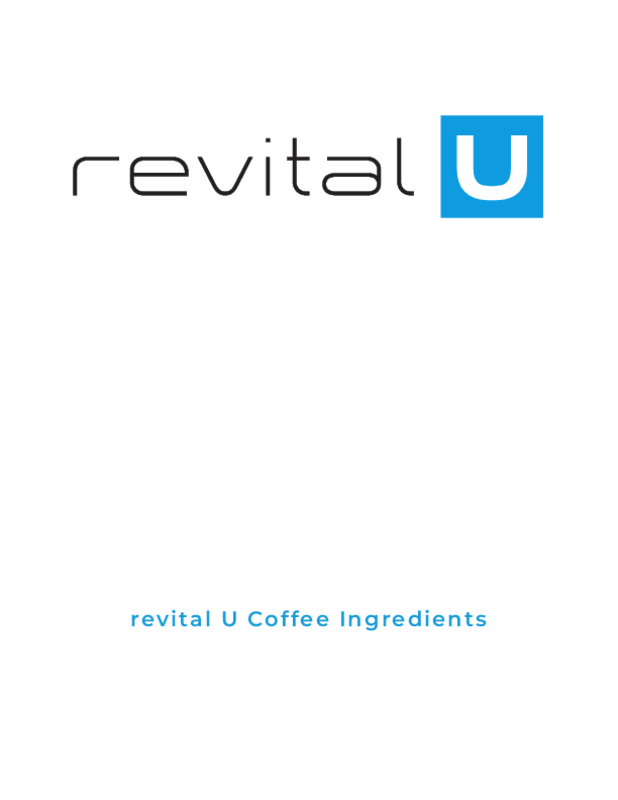 revital U Smart Coffee Ingredients