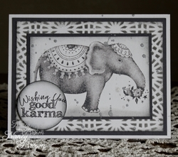 Wishingyougoodkarmagreyandwhiteelephantcard