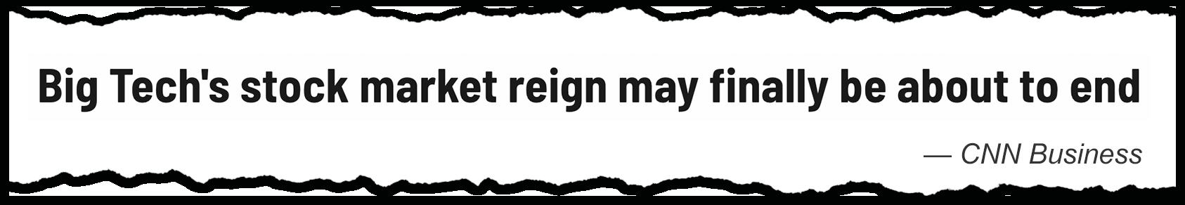 Big Tech's reign end