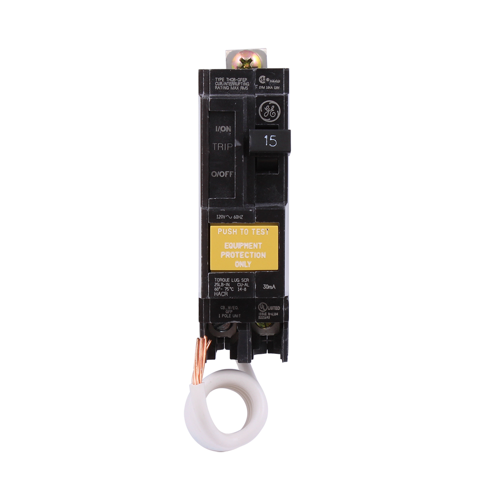 Ge Qline 20 Amp 21 4 In Double Pole Gfci Circuit Breaker