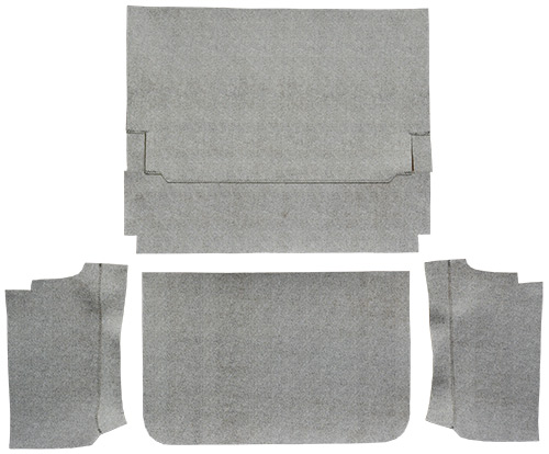 1965 1966 Ford Galaxie Fleece 4pc Factory Fit Trunk Mats