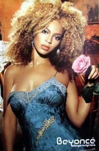 Beyonce 2003 Danger Love Big 2 Sided Promotional Poster