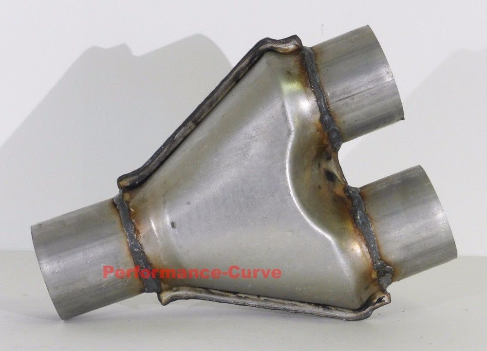 """Single 2.5/"""" Dual 2.5/"""" Y-pipe Universal Ypipe Y Pipe Aluminized Duals Exhaust"""