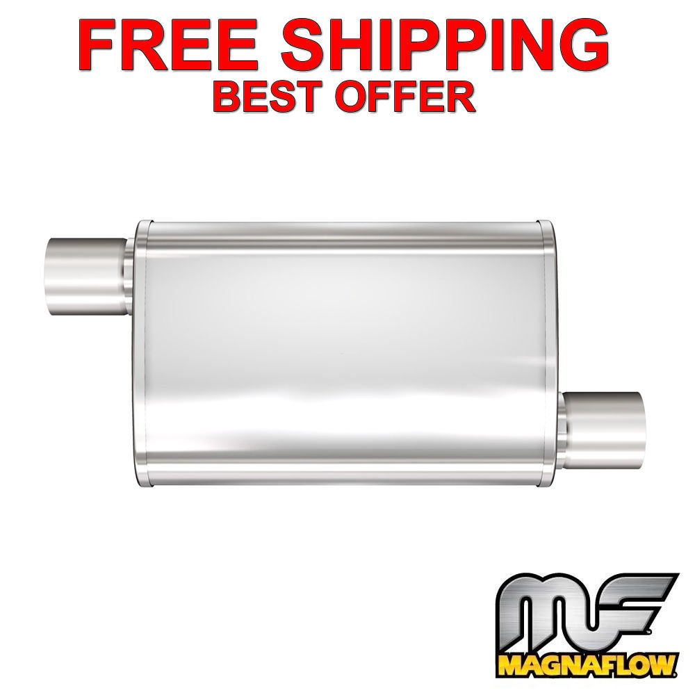 "2/"" O//O 18/"" Body MagnaFlow XL 3 Chamber Stainless Steel 6/"" Muffler 13650"