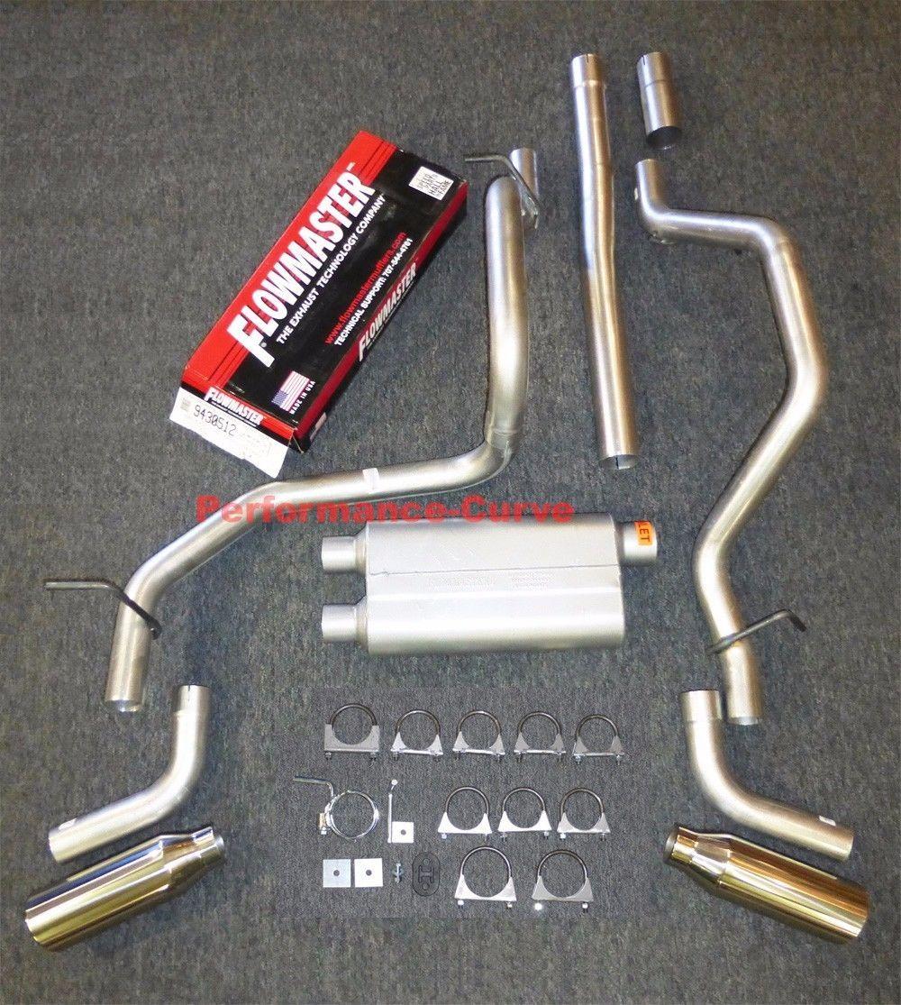 "Chevy Silverado GMC Sierra 07-14 2.5/"" Dual exhaust Flowmaster 50 series muffler"