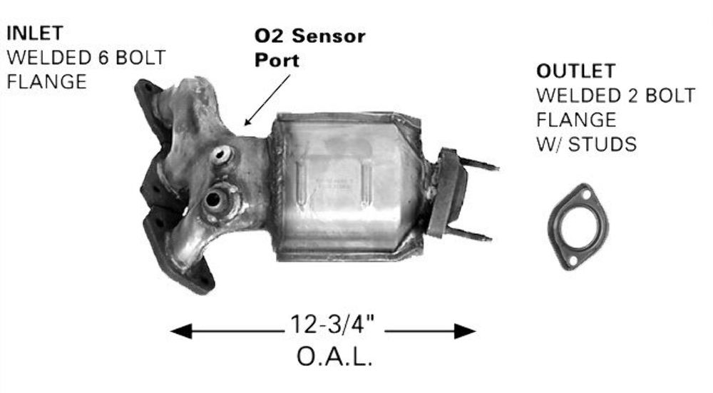 9702 Toyota Camry Manifold Catalytic Converter 641132: 2001 Toyota Camry Le Catalytic Converter At Woreks.co