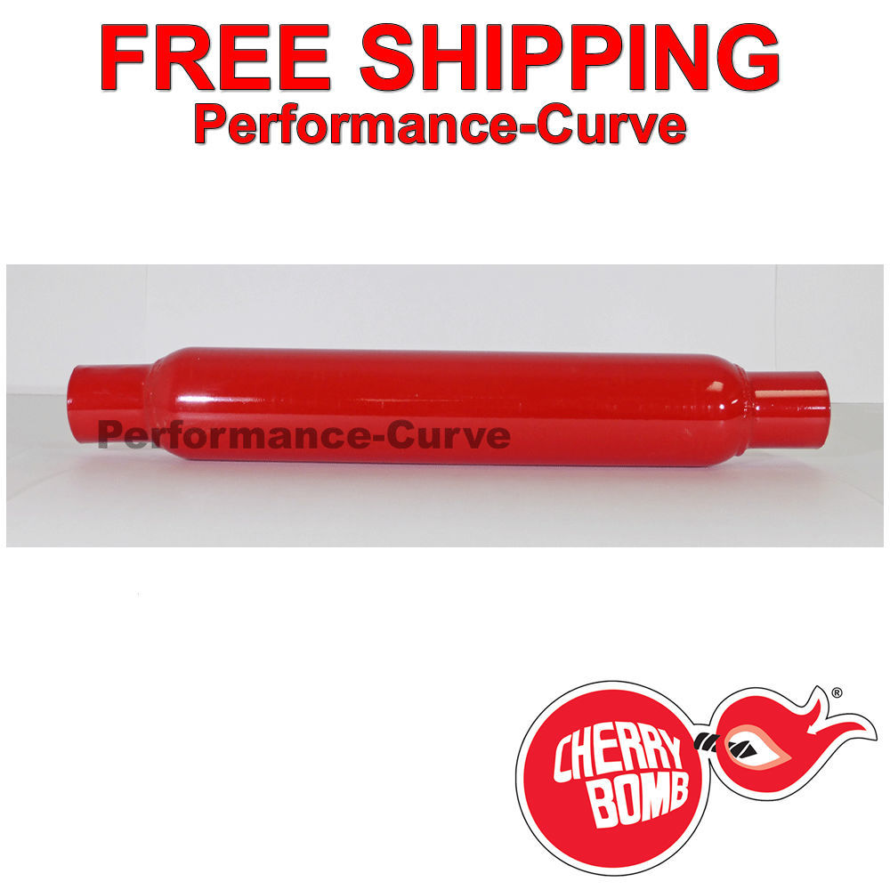 """Cherry Bomb 87515CB 3.5/"""" Round Glasspack Muffler 2.25/"""" Inlet Outlet"""