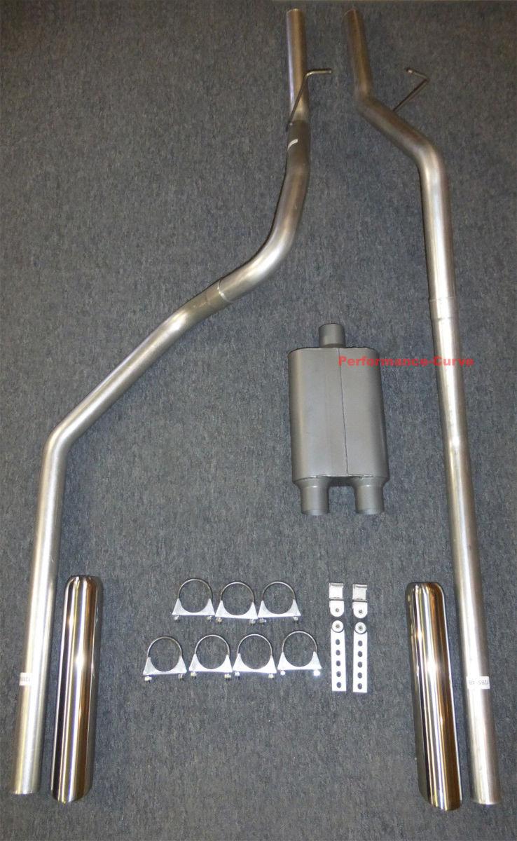 Gol Ramfb Stainless Dodge Ram Dual Exhaust Mandrel Bent on 1999 Dodge Ram 2500